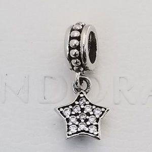 Pandora Star Clear Pave Charm Dangle CZ new